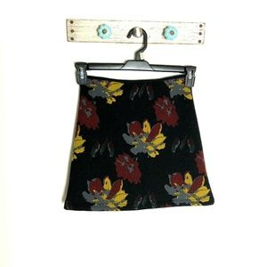 LUSH S Black Textured Floral Straight Skirt Flare